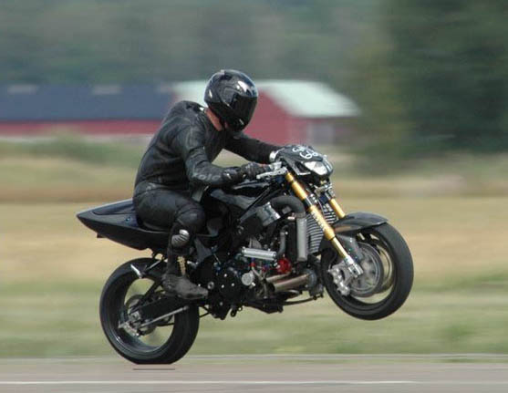Ghost Rider World Record Wheelie 346.25km/h