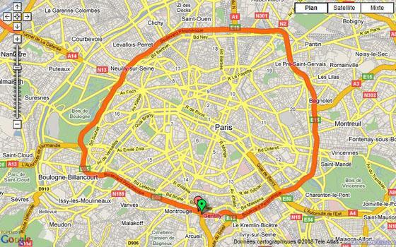 Application iphone path tracker motard geek - Plan du peripherique parisien les portes ...
