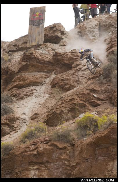 Descente de folie en VTT au Red Bull Rampage 2008
