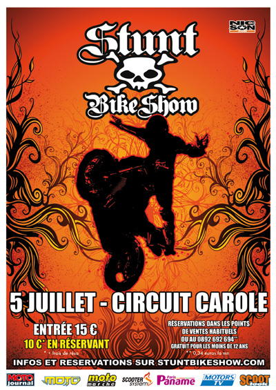 Flyer du Stunt Bike Show 2009