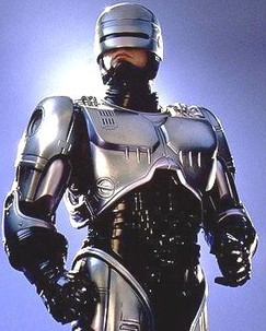 Photo de Robocop pour illustrer le gilet de protection Mike Body Stunt