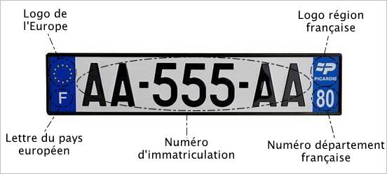 nouveau num 233 ro d immatriculation europ 233 en en vigueur