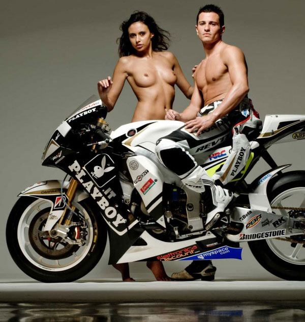 Pin-Up sexy du sponsor d'Honda LCR : PlayBoy