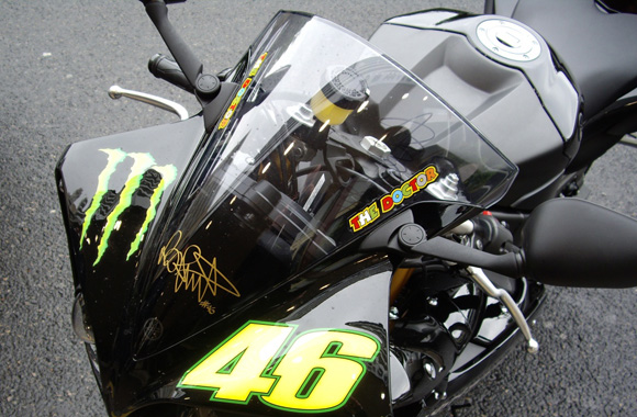 La bulle de la Yamaha R1 Monster Energy