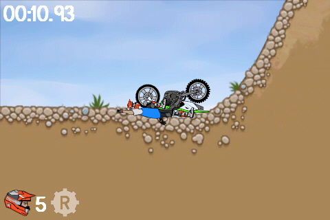 Accident dans Moto X Mayhem