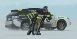 Ken Block & Travis Pastrana at the salt flats