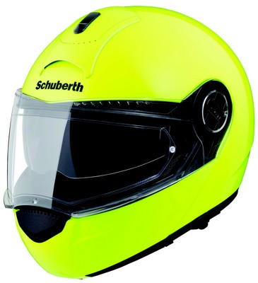 un casque jaune fluo pour les k k s qui portent le gilet motard geek. Black Bedroom Furniture Sets. Home Design Ideas