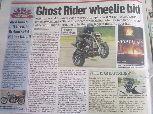 Interview de Ghost Rider par MCN
