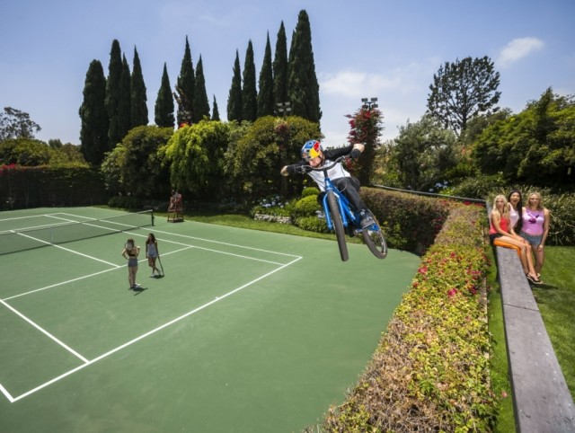 Danny MacAskill Playboy Mansion tennis