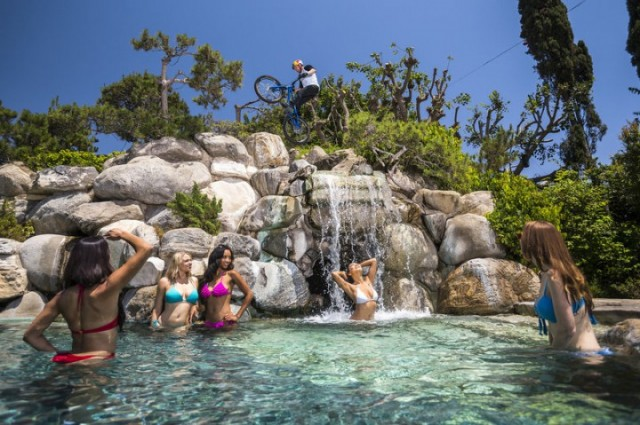 Danny MacAskill Playboy Mansion Waterfall