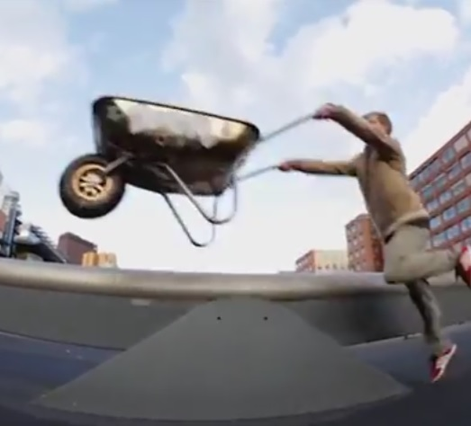 extreme brouette freeride stunt