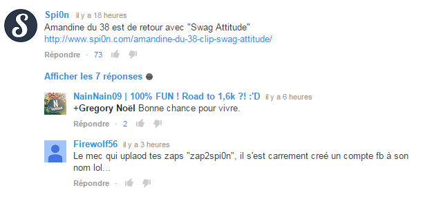 spi0n spam commentaire