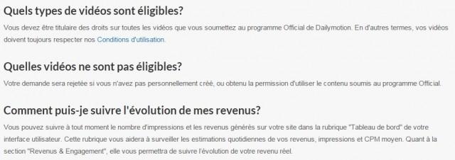CGU droits d'auteur Daylimotion