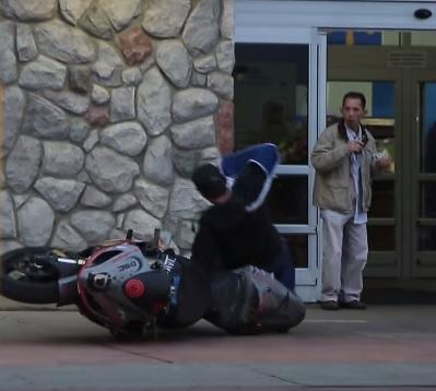 prank with bike