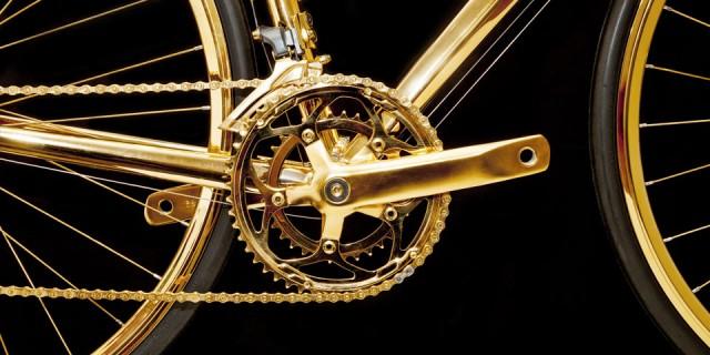 Vélo en Or 24K 02