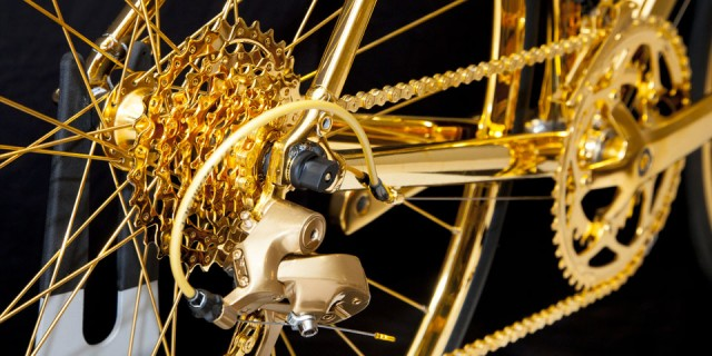 Vélo en Or 24K 03