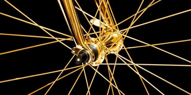 Vélo en Or 24K 04