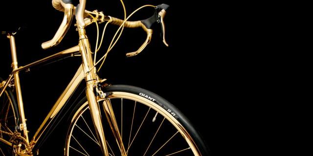 Vélo en Or 24K 06