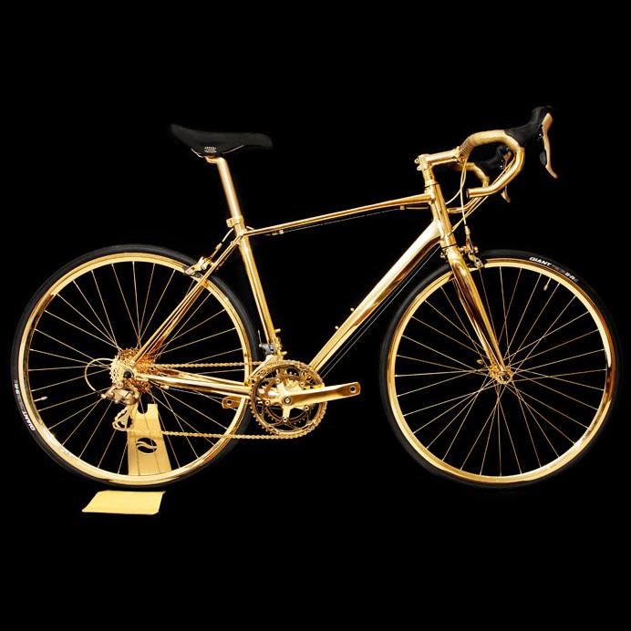 Vélo en Or 24K 01