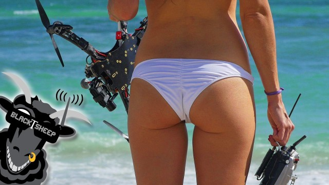 Une pilote de drone sexy