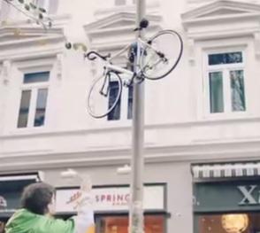anti-vol vélo lampadaire