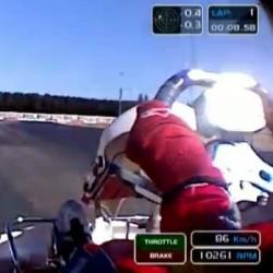 wsk onboard kart crash