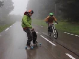 freeborder vs mountainbiker