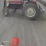 accident moto tracteur