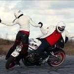 danse sur moto