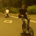 reverse bike crash