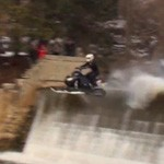 snowmobile water fall