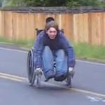 wheel chair crash