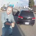 automobiliste gifle motard