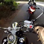choc frontal moto