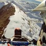 moto cross sur crete enneigee record