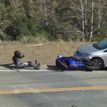 motard r6 vs voiture