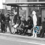 Vélo MORI arrêt de bus