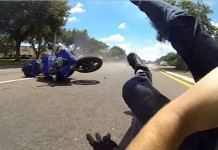 accident moto slow motion