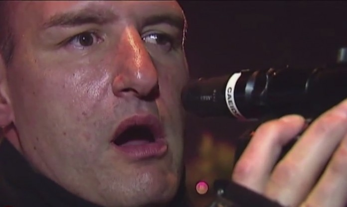 Policier choqué avec son radar