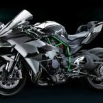 Kawasaki Ninja H2R 2015 : profil gauche