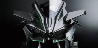 Kawasaki Ninja H2R 2015 : la bulle type avion de chasse