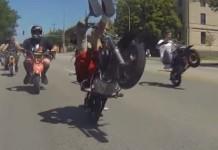 pit bike stunts