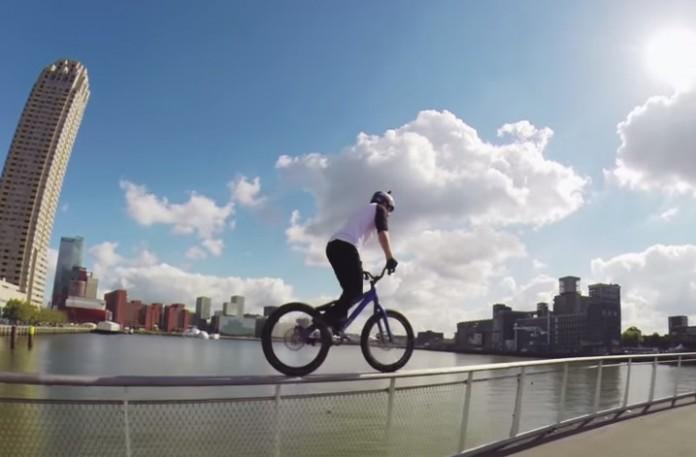 Danny MacAskill freeride à Rotterdam