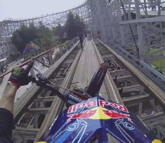 red bull trial roller coaster