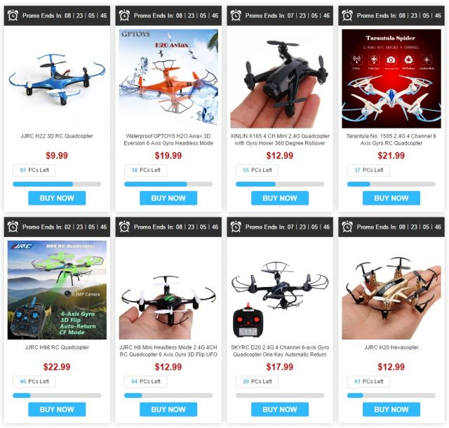 Drones en promotion chez GearBest