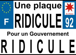 plaque d'immatriculation moto ridicule