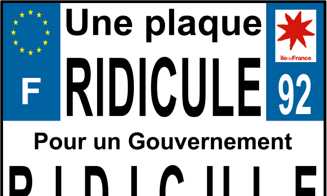 plaque d'immatriculation moto ridicule