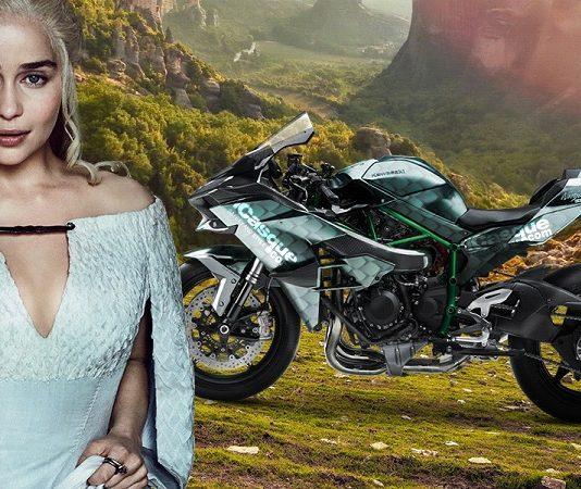 Bike of Thrones moto Game of Thrones Daenerys