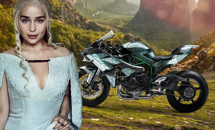 Bike of Thrones moto Game of Thrones Daenerys