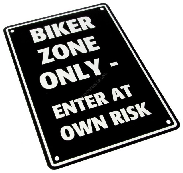 Plaque de parking motard